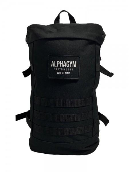 """ALPHA GYM """"TACTICAL BAG"""" Backpack black/white"""