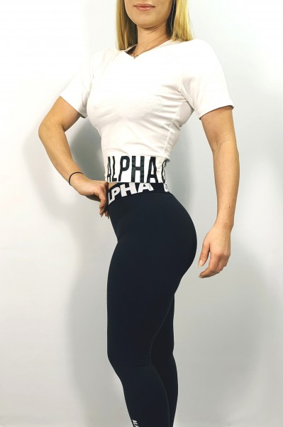 "ALPHA GYM ""MOVE"" Cropped Tee white/black"