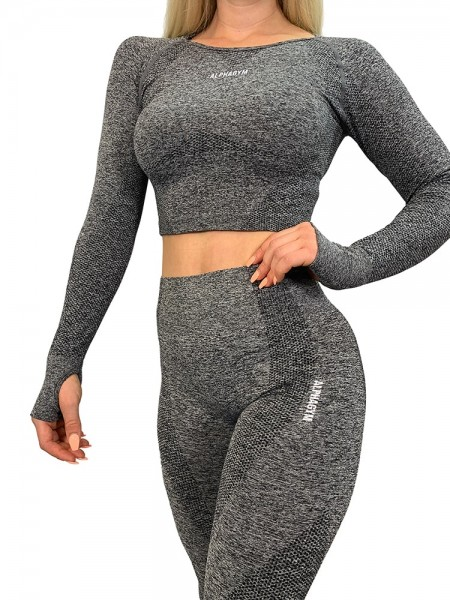 """LIMITLESS"" Seamless Leggings grau"