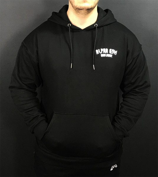 "ALPHA GYM ""WORLDWIDE"" Oversize Hoodie black/white"