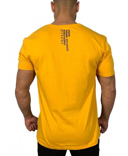 """""""LOCKDOWN"""" Oversized T-Shirt orange/black"""