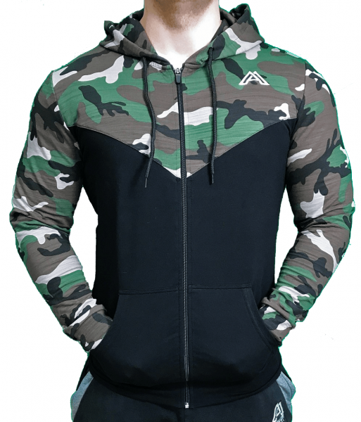 ALPHA GYM CAMOUFLAGE ZIPPER JACKET