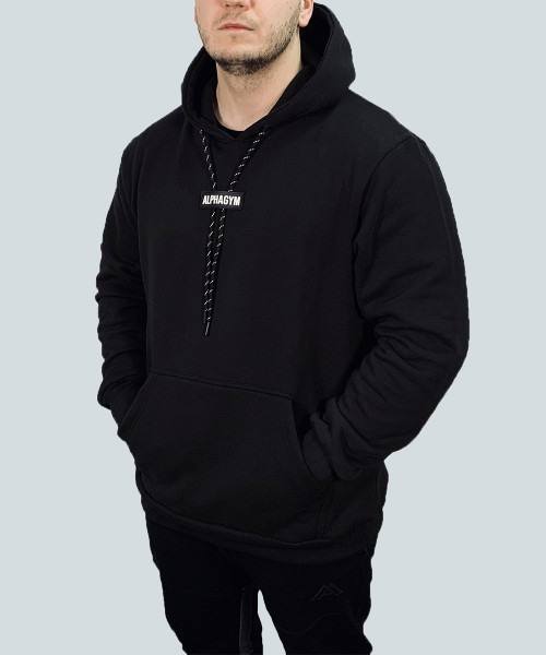 """STATEMENT"" OVERSIZED Hoodie black/white"