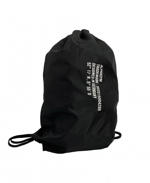 """LOCKDOWN"" GYM SACK black/white"