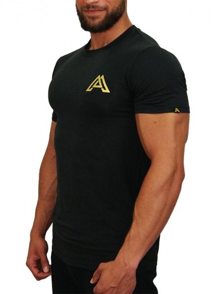 """CLASSIC"" T-Shirt black/gold - #TEAMALPHA Edition"