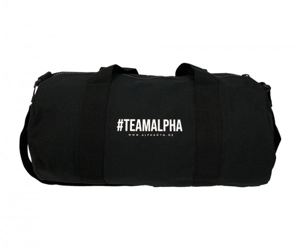 """#TEAMALPHA"" DUFFLE BAG black/white"