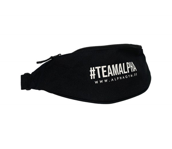 """#TEAMALPHA"" BELT BAG black/white"