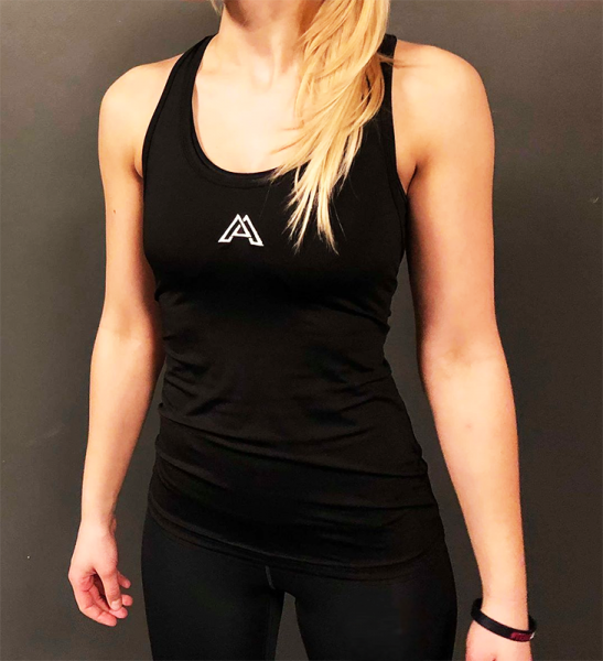 "ALPHA GYM ""PERFORMANCE"" Women Top black"