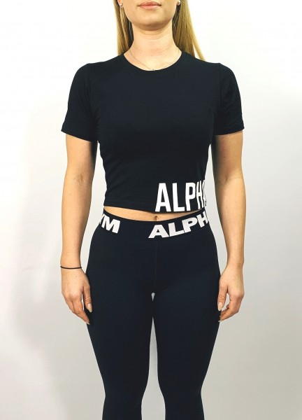 """MOVE"" Cropped Tee black/white"