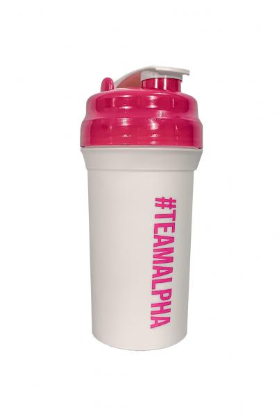 """'TEAMALPHA"" Pro Shaker white/pink"