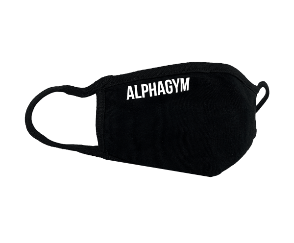 "ALPHA GYM ""LOCKDOWN"" Face Mask black/white"