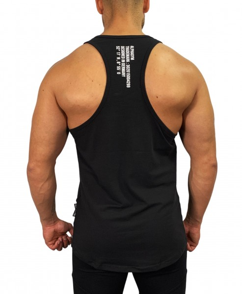 """LOCKDOWN"" Stringer black/white"