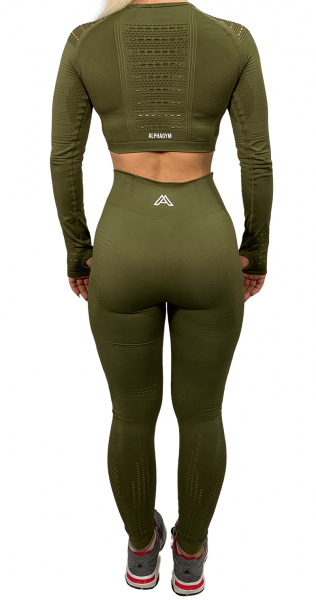 """RESISTANCE"" Leggings military green"