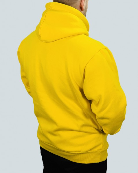 """STATEMENT"" OVERSIZED Hoodie yellow/black"