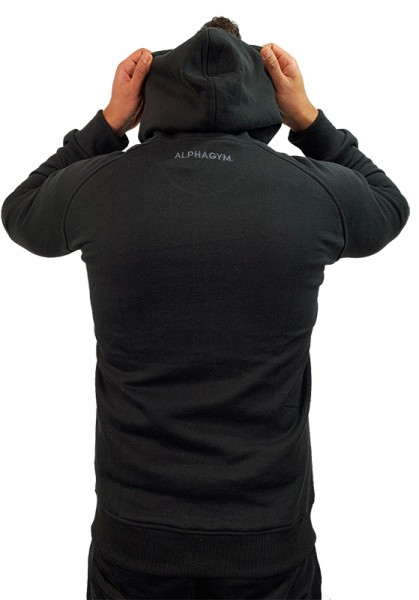 """PERFORMANCE"" Zipper Hoodie black/grey"
