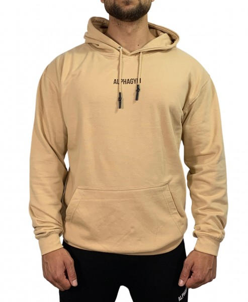 """LOCKDOWN"" OVERSIZED Hoodie sand/brown"