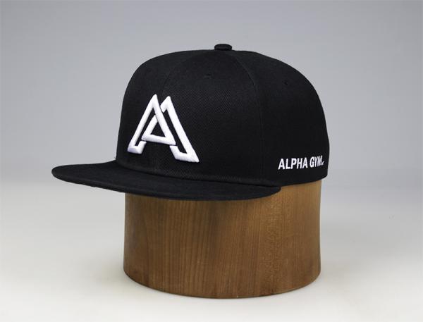 ALPHA GYM Snapback BLACK/WHITE