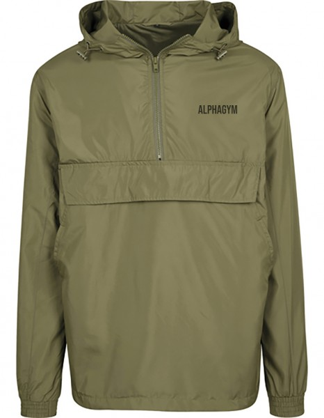 """LOCKDOWN"" Windbreaker olive/black"