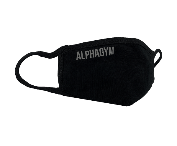 "ALPHA GYM ""LOCKDOWN"" Face Mask black/grey"