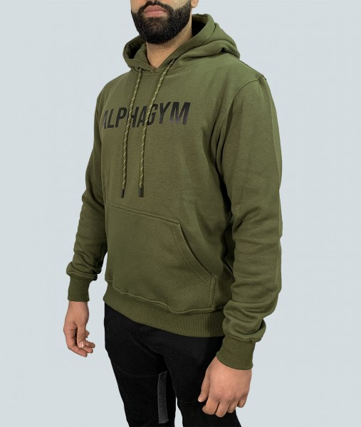 "ALPHA GYM ""ORIGINAL"" Hoodie military green/black"