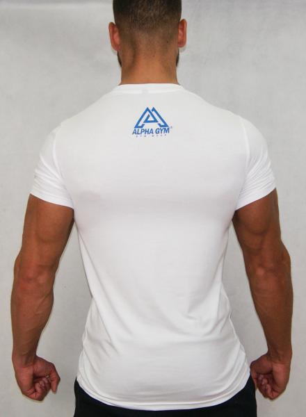 """BIG LOGO"" T-Shirt white/blue"