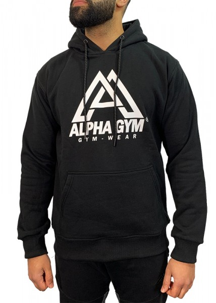 "ALPHA GYM ""BIG LOGO"" Hoodie black/white"