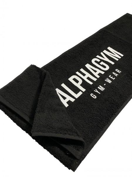 """ALPHA GYM """"GYM TOWEL"""" mit Reißverschluss black/white"""
