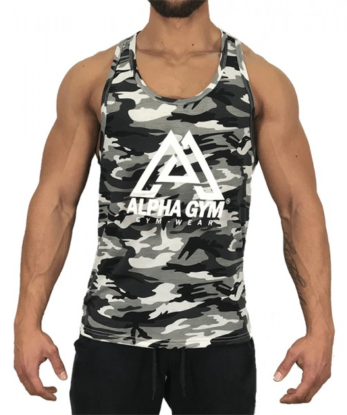 "ALPHA GYM ""WHITE CAMOUFLAGE"" Stringer"