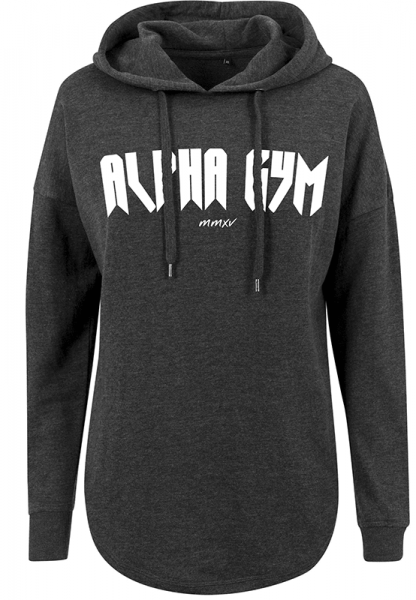 "ALPHA GYM ""MAGNUS"" Oversize Hoodie Women dark grey"