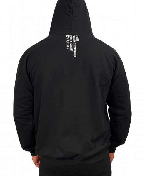 """LOCKDOWN"" OVERSIZED Hoodie black/white"